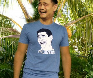 "Rage Faces are all the shall I say rage these days. Get in on the action with this awesomely designed Yao Ming ""Bitch Please"" rage shirt."