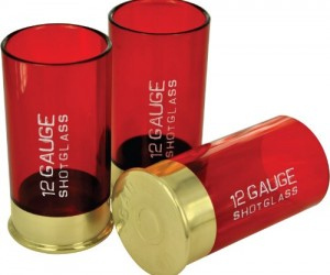 Are normal shot glasses too girly for you? If so then try the 12 Gauge Shotgun Shell Shot Glass
