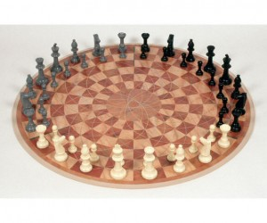 Tired of traditional 2 person chess? Why not spice things up by adding a third person to the mix, with some 3 man chess.