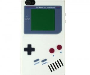 Relive you're childhood and feel like you're carrying around an old skool gameboy with the neat and durable nintendo gameboy silicone iPhone case.