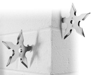 Hang up your ninja gear after a hard day of fighting crime and what not with the super cool ninja star coat hooks.