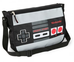 Own a sleek and stylish nintendo reversible messenger bag perfect for carrying around your laptop or other geeky products you might have.