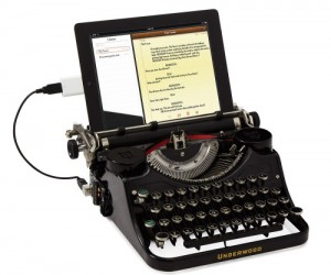 For the ultimate hipster in yourself of someone you know, now you can type on your iPad from a typewriter using the USB typewriter.