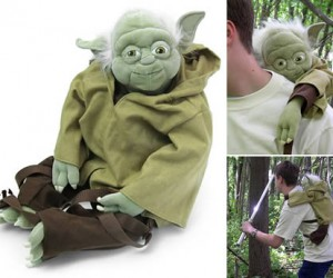 Look just like Luke Skywalker as he carted Yoda around on Dagobah with the super geeky Yoda Plush Backpack