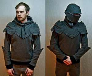 Grey Armored Knight Hoodie – Wow I bet you've never seen a hoodie quite like this. If you've ever wanted to defend your maiden's honor like never before, now is