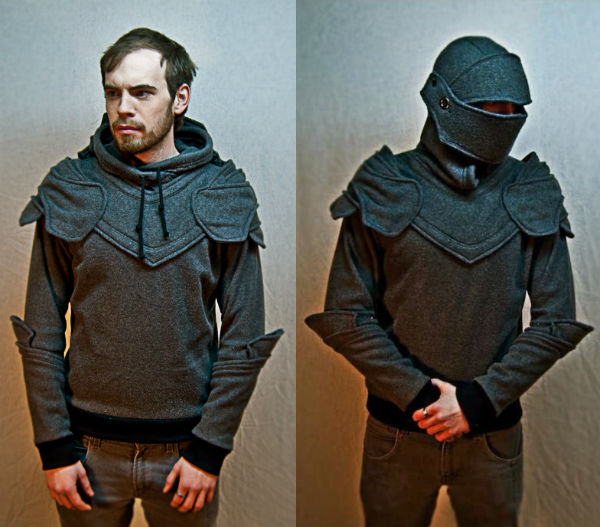 grey knight armored hoodie etsy