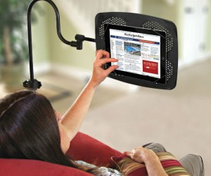 iPad Floor Stand – If you're tired of having to hold your iPad in your hands then check out the adjustable iPad floor stand.