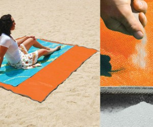 Sandless Beach Mat – If you're tired of getting a ton of sand on your towel when you go to the beach and who isn't then this is the towel