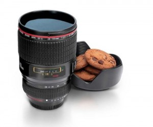 Camera Lens Mug – What's cooler than drinking your morning cup of coffee out of a camera lens?