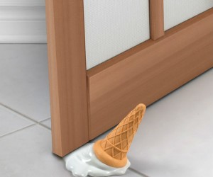 Melted Ice Cream Door Stop – Prank your friends with the melted ice cream door stop