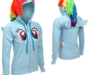 My Little Pony Rainbow Dash Hoodie – Bronies and MLP Fans alike will love this My Little Pony Rainbow Dash Hoodie available at Amazon and ThinkGeek
