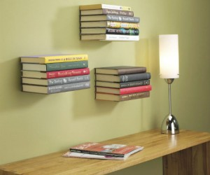 Floating Book Shelf – Make it look as if your books are floating on the wall with the umbra floating book shelf