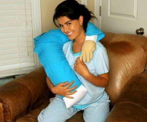 The boyfriend pillow or 'forever alone' pillow as it should be called, is great for feeling like you are snuggling with someone when you actually aren't.