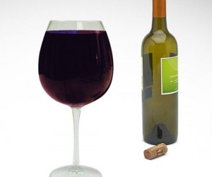 Full Bottle Wine Glass – A glass of wine a day keeps the doctor away