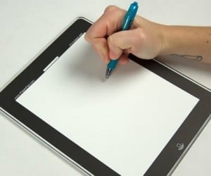 If buying an iPad is too expensive check out the iPaper Pad instead. Basically it's a paper pad that resembles an iPad great for jotting down notes or as a
