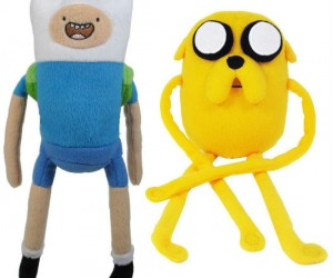 Adventure Time Plushies – Finn the human and Jack the dog now available in adorable plushie form.