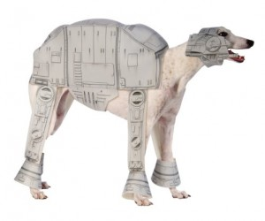 Just in time for halloween your dog will be the talk of the town with this geeky Star Wars AT-AT dog costume
