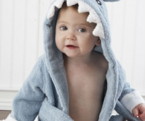Let the fin begin with the Baby Shark Robe/Towel