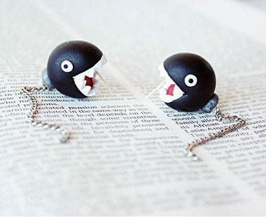 chomp mario earrings