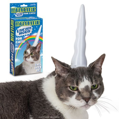 inflatable unicorn horn for cats