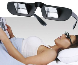Prism Glasses – now you'll never have to sit up while reading a book in bed ever again!