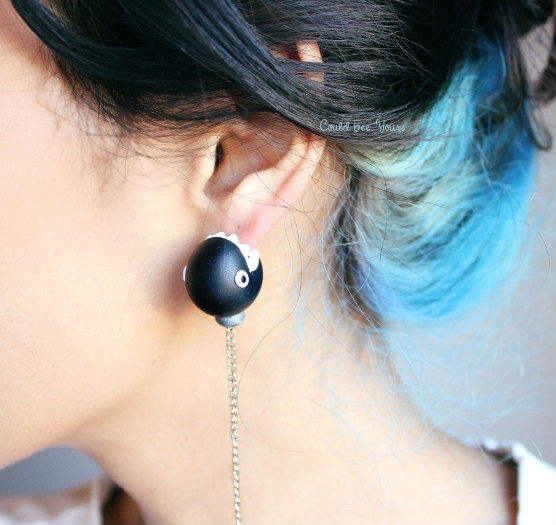 mario chomp earrings