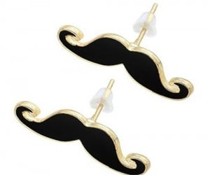 Mustache Earrings – Mustaches are all the rage, ladies even if you can't grow your own you can still wear them in your ears