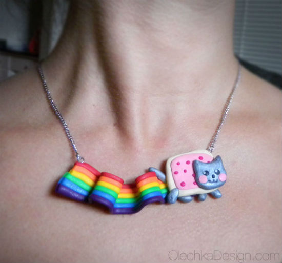 nyan cat necklace 2
