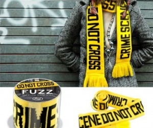 Crime Scene Scarf – Not only will it keep you warm, but I was thinking it would make a great accessory for your zombie costume. You know, because the body