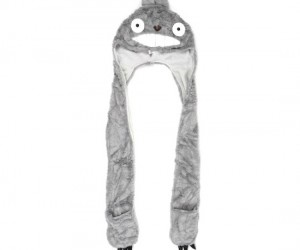 Your friend Totoro will keep you warm and cozy when the weather is cold, and provide a Costume for Halloween if you need one.
