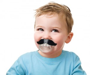 Mustache Pacifier – Mustaches make the world go around, and they should be be appreciated by fans of all ages! Your baby can have his first mustache long before puberty