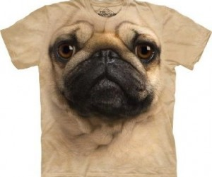 The most realistic giant faced creepy looking pug shirt you'll see all day