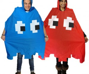Retro Pacman Arcade Panchos – The rainy season has begun,  be the coolest looking person by protecting yourself from the downpours!