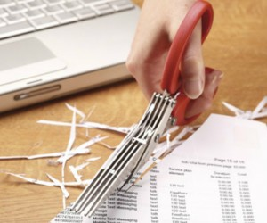 Shredding Scissors – Cheaper, quieter, and more portable than an electric paper shredder.