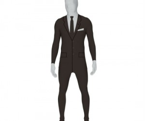 Slenderman Costume – Make halloween a million times creepier with the Slender man morphsuit style costume.