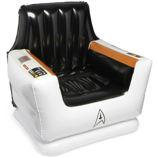 8 White Kitchens That Will Make You Say Wow: Star Trek Inflatable Captain's Chair