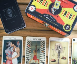 Zombie Tarot Cards – Predict your personal outcome to the impending zombie apocalypse, or if you're not physically intuitive, you can just use them as a really awesome Halloween party