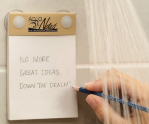 Waterproof Notepad – If inspiration strikes you best in the shower then this is exactly what you need, a waterproof notepad.