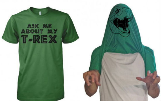 ask me about my trex shirt