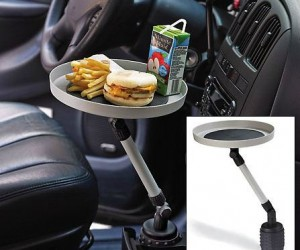Car Cup Holder Table – It's not fair that your car only provides a place for your drink, wouldn't it be nice if there was a place for the rest