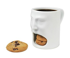 Face Mug – Aconvenientand cool looking way of carrying your milk and cookies!