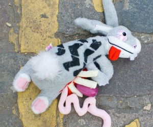 All animals are cute and cuddly and have a stuffed toy made in their liking, but roadkill? I don't know about that…