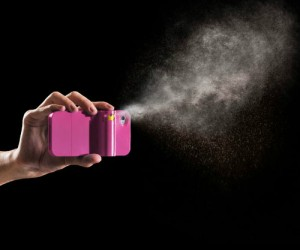 You have your iPhone in your hands at all times, attaching pepper spray to it will give you protection in your hands at all times.