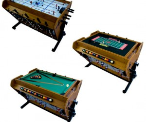 The perfect gift for the whole family! It has four different built in games on three different surfaces.