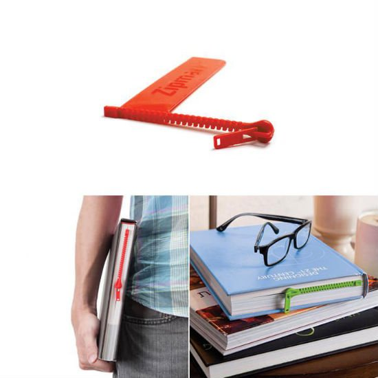 zipper bookmark