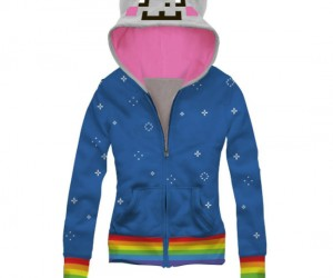 Nyan Cat Hoodie – You can feel just like you're zooming through space like a little grey pop tart kitty, but too bad you won't actually be able to do