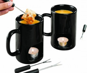 Fondue Mugs – A great way to enjoy a romantic dinner of fondue without having an aching back afterwords from bending over the table all night.