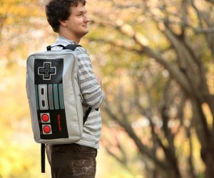 Nintendo Controller Backpack – Bring back all your childhood gaming memories with this neato nintendo backpack.