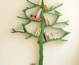 Tree Bookshelf – Books might not grow on trees, but they are produced and manufactured out of trees. Remind those books of their ancestors while you display them on your