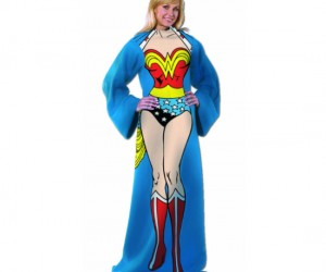 Wonder Woman Snuggie – You can be super sexy and keep warm while leaving your hands free to use your iPhone, Kindle, Android, or Tablet.